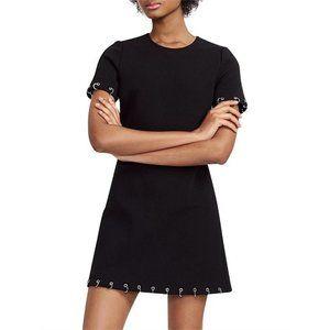 MAJE Piercing Detail Stretch Crepe Dress